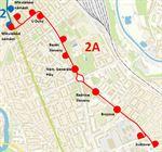 mapa náhradové dopravy