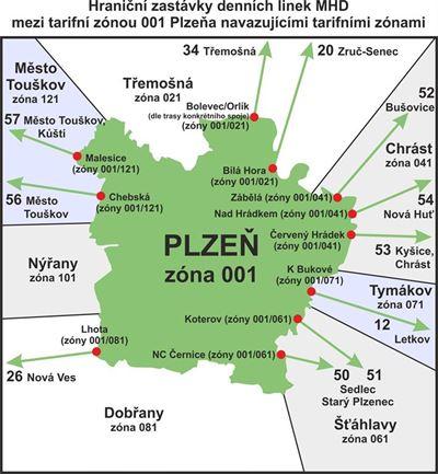 Plzeň-hraniční zastávky