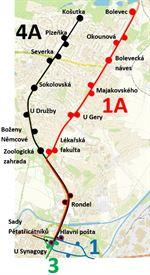 mapa zastávek