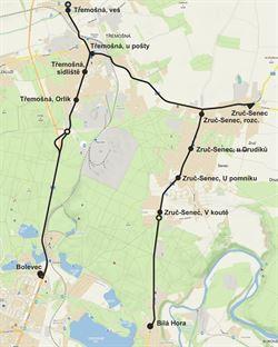 Trasa linky 58
